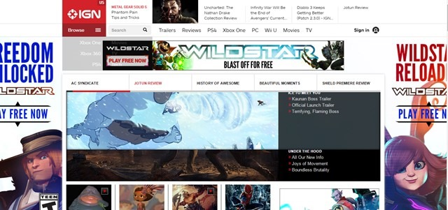 IGN Ad Takeover Example